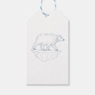 Polar Bear Walking Iceberg Ukiyo-e Gift Tags