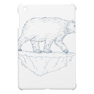 Polar Bear Walking Iceberg Ukiyo-e iPad Mini Cases