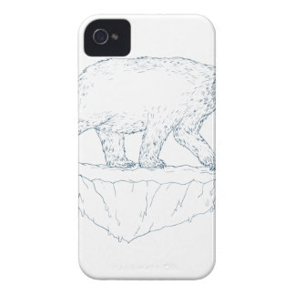 Polar Bear Walking Iceberg Ukiyo-e iPhone 4 Cover