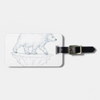 Polar Bear Walking Iceberg Ukiyo-e Luggage Tag