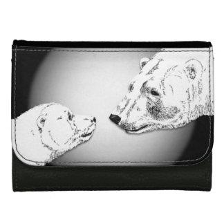 Polar Bear Wallet Baby Bears Art Wallet Gifts