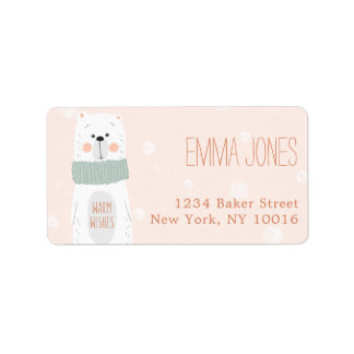 Polar Bear / Warm Wishes / Address Label