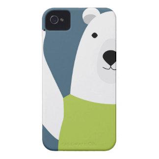 Polar Bear Waving iPhone 4 Cover