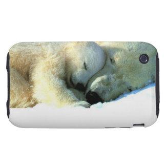 Polar Bear with Cub iPhone 3G/3GS Case-Mate Tough iPhone 3 Tough Cover