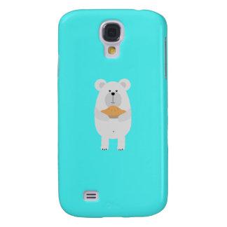 Polar Bear with pie Q1Q Galaxy S4 Covers