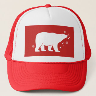 Polar Bear with Snowflakes and Stars Trucker Hat
