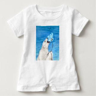 Polar Bear with Toasted Marshmallow Baby Bodysuit