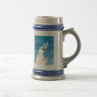 Polar Bear with Toasted Marshmallow Beer Stein