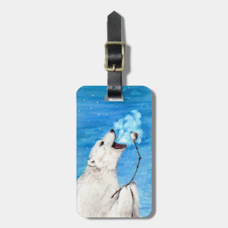 Polar Bear with Toasted Marshmallow Luggage Tag