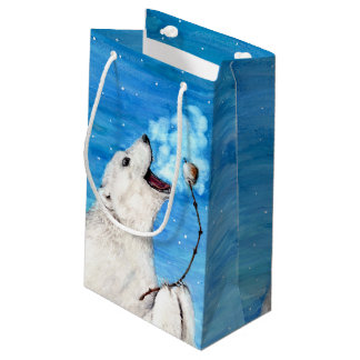Polar Bear with Toasted Marshmallow Small Gift Bag