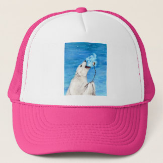 Polar Bear with Toasted Marshmallow Trucker Hat