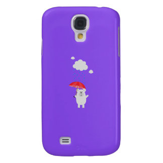 Polar Bear with Umbrella Q1Q Galaxy S4 Covers