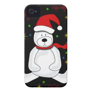 Polar bear - Xmas design iPhone 4 Cover