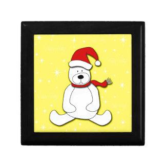 Polar bear - yellow gift box
