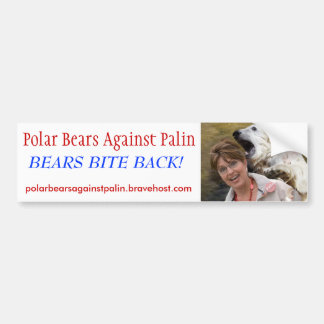 Polar Bears Against Palin - Customized Bumper Sticker