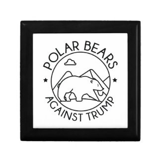 Polar Bears Against Trump Gift Box