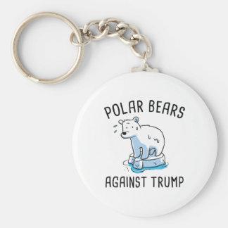 Polar Bears Against Trump Key Ring