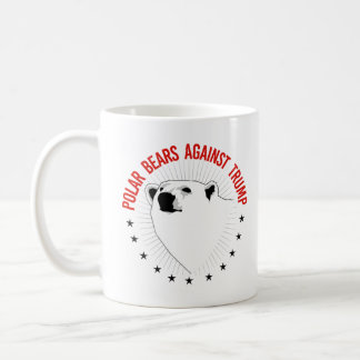 Polar Bears Against Trump - - Pro-Science - Coffee Mug