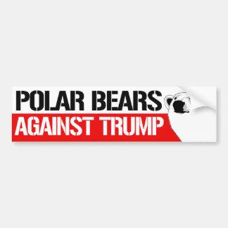 Polar Bears Against Trump - Resistance Bumper Stic Bumper Sticker