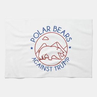 Polar Bears Against Trump Tea Towel