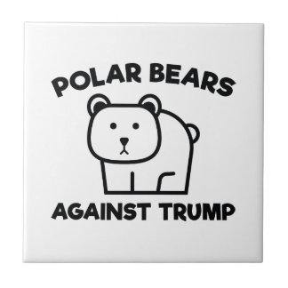 Polar Bears Against Trump Tile