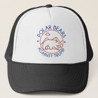 Polar Bears Against Trump Trucker Hat