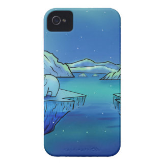 Polar Bears and Northern Lights iPhone 4 Case-Mate Cases