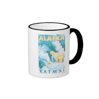 Polar Bears & Cub - Latouche, Alaska Coffee Mug