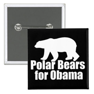 Polar Bears for Obama 15 Cm Square Badge
