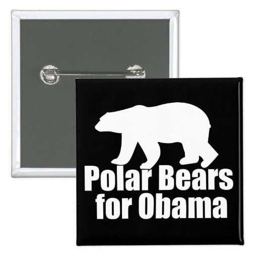 Polar Bears for Obama Button