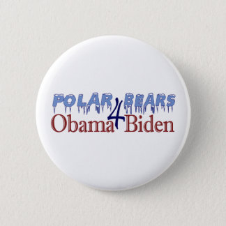 Polar Bears for Obama Biden 2008 6 Cm Round Badge