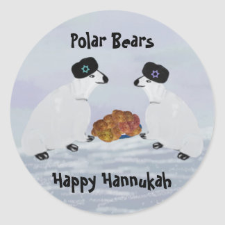 Polar Bears Hannukah Nights Stickers