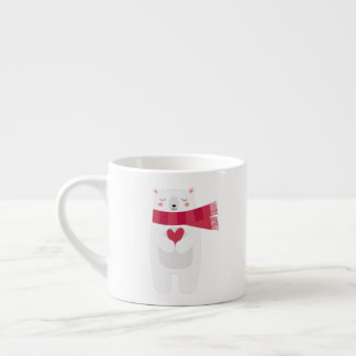 Polar Bear's Heart Christmas mug