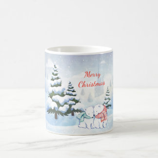 Polar Bears in Winter Christmas Mug
