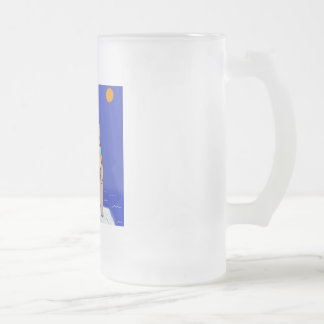 Polar Bears Looking Stupid Frosted Glass Beer Mug