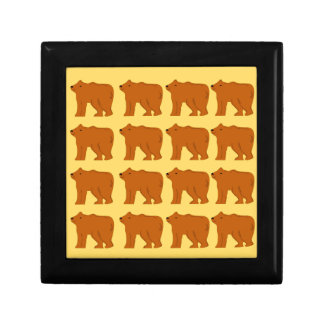 Polar bears on Gold Gift Box