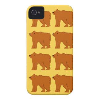 Polar bears on Gold iPhone 4 Cover