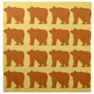 Polar bears on Gold Napkin