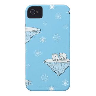 Polar bears on icebergs iPhone 4 covers