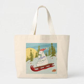 Polar bears on sled bags