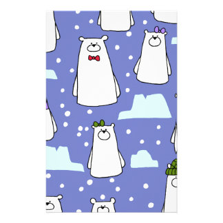 polar bears personalized stationery