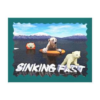 Polar Bears - Sinking Fast Canvas Prints