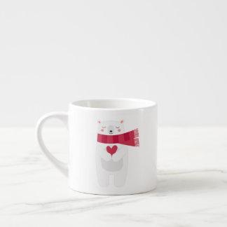 Polar Bear's Snowflake Christmas mug