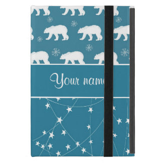 Polar Bears Twinkling Stars Personalized Cover For iPad Mini