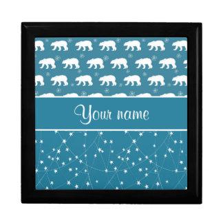 Polar Bears Twinkling Stars Personalized Gift Box