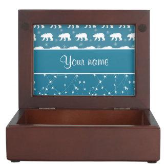 Polar Bears Twinkling Stars Personalized Keepsake Box