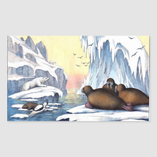 Polar Bears, Walrus, And Seals Sticker