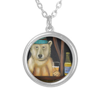 Polar Beer Silver Plated Necklace