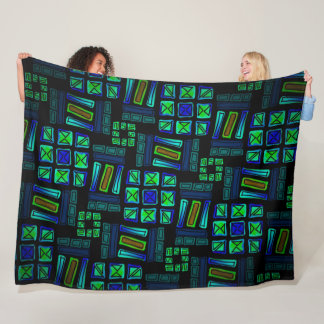 Polar blanket Jimette Design blue green and black