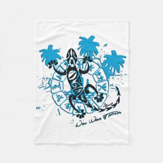 Polar cover horoscope lizard fleece blanket